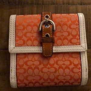 Coach Signature Wallet - Orange
